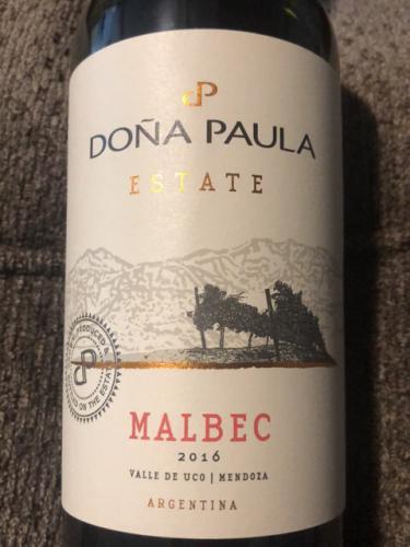 Doña Paula - Estate Malbec - 2016