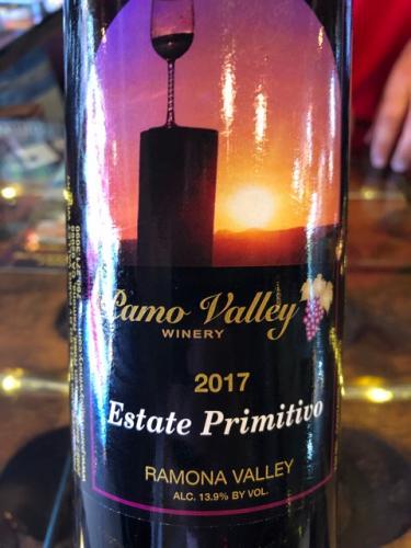Pamo Valley - Estate Primitivo - 2017