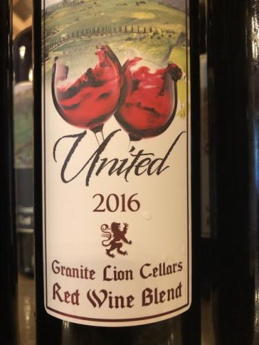 Granite Lion Cellars - United - 2016