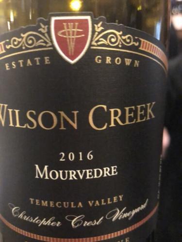 Wilson Creek - Family Reserve Christopher Crest Vineyard Mourvèdre - 2016