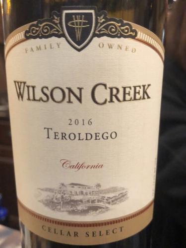 Wilson Creek - Cellar Select Teroldego - 2016