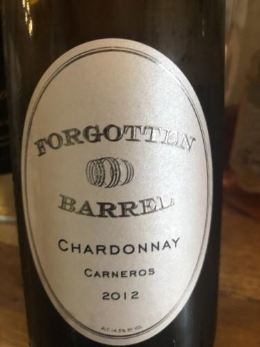 Forgotten Barrel - Barrel Chardonnay - 2012