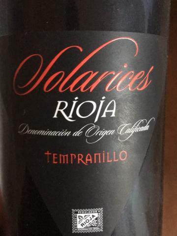 Solarices - Rioja Tempranillo - 2014