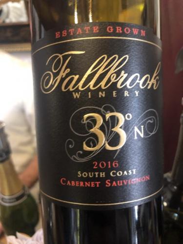 Fallbrook - Gracie Hill Vineyard 33°N Cabernet Sauvignon - 2016