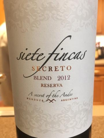 Siete Fincas - Secreto Reserve Blend - 2012