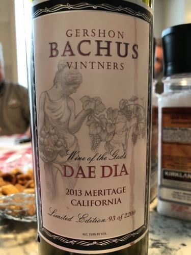 Gershon Bachus Vintners - Dae Dia Meritage - 2013